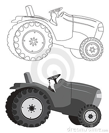 Free Tractor Silhouette Royalty Free Stock Photos - 11243798