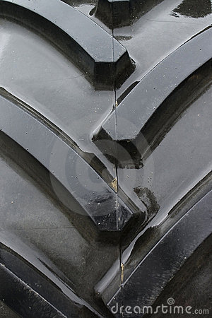 Tractor tire tread background