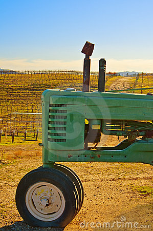 Tractor at the Vineyard