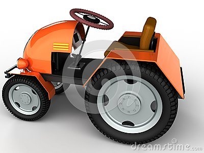 Tractor with a yellow trunk and big wheels №1