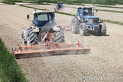 Tractors farming