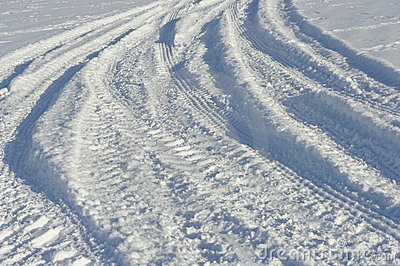 Tractors  Tracks in Snow