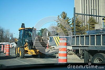 Tractors, trucks and pylons