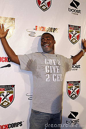Tracy Morgan on the red carpet. Editorial Stock Photo
