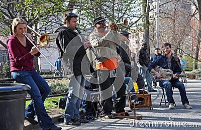 Trad. Jazz Band, Greenich Village New York Editorial Photo