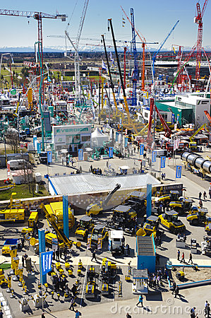 Trade fair for building machines Editorial Stock Image
