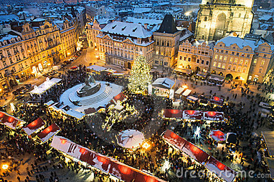 Trade fair in Prague. Christmas