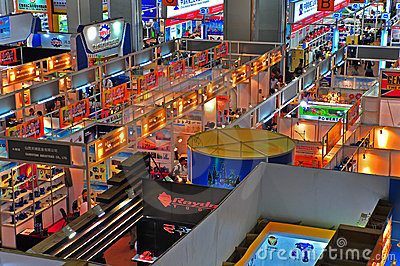 Trade pavilions of canton fair 2011 Editorial Image