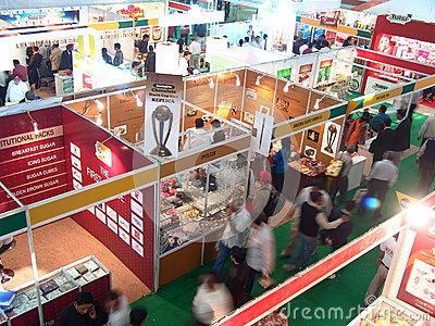 Trade Show Editorial Stock Photo