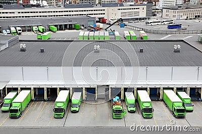 Trade trucks Editorial Photography