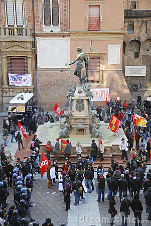 Trade union demonstration in Italy Editorial Photo