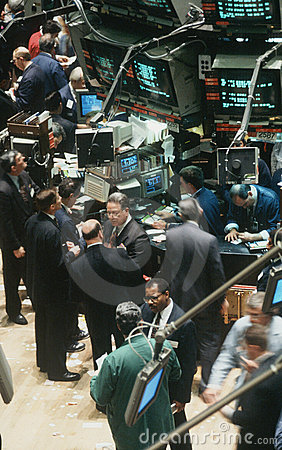 Traders at New York Stock Exchange Editorial Stock Photo