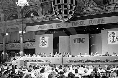 Trades Union Congress, 1989 Editorial Stock Photo