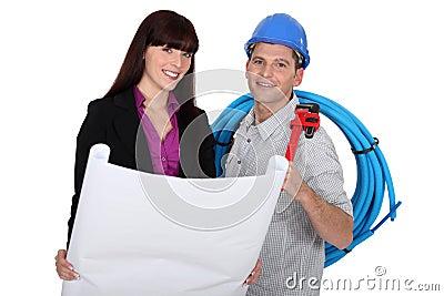 Tradesman and architect