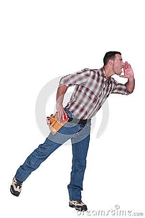 Tradesman hollering