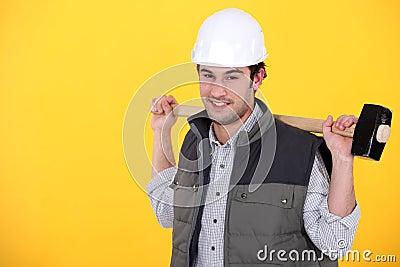 Tradesman witha mallet