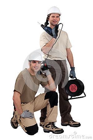 Tradesmen with their tools