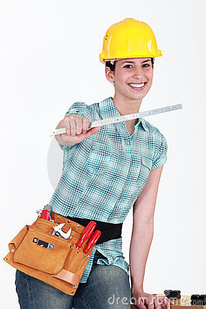 Tradeswomanwith a ruler
