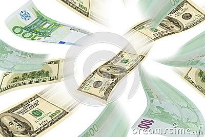 Trading euro-dollar.