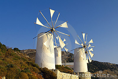 Tradition Greek windmills