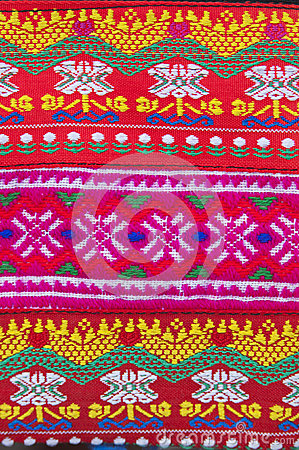 Free Tradition Handwork Fabric Of Hill Tribe Background,Thailand Royalty Free Stock Image - 45782856