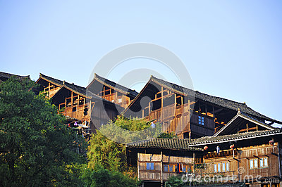 Tradition Miao type wooden house