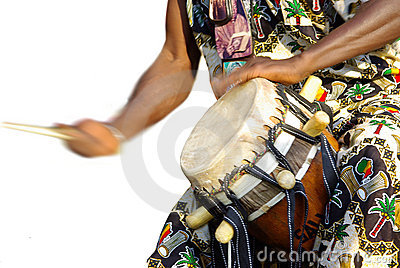 Traditional african drum player