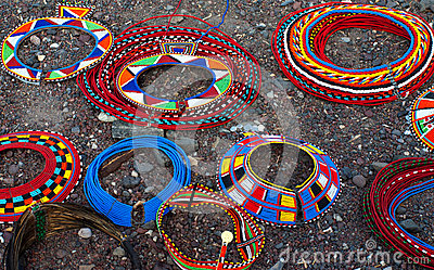 Traditional african necklaces