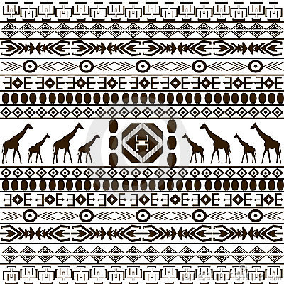 Similar Stock Images Of Traditional African Pattern With Giraffes