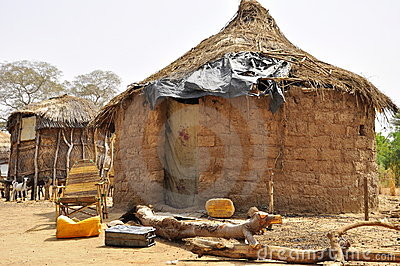 Traditional african village houses in Niger