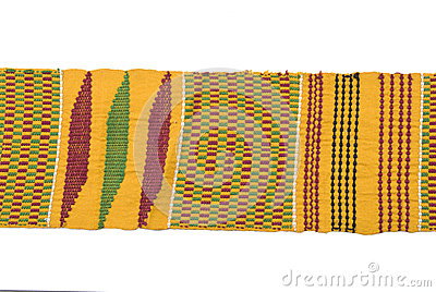Traditional African woven belt.
