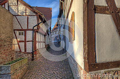 Traditional Alley in Seligenstadt