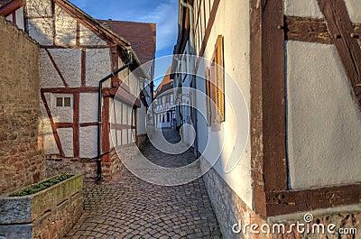 Traditional Alley in Seligenstadt