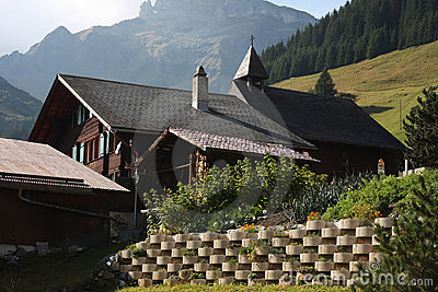 Traditional Alpine cabin