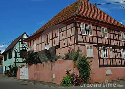 Traditional alsace houses