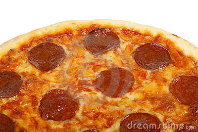 Traditional american / italian cheese and pepperoni pizza