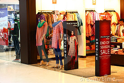 Traditional Apparel outlet in Royal Meenakshi Mall Editorial Photography