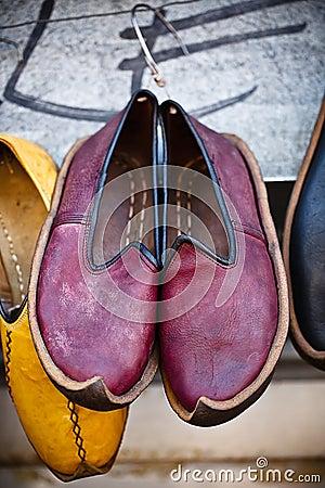 Traditional arab shoes
