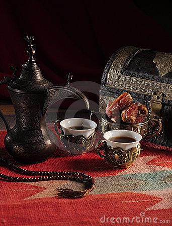 Traditional Arabic coffee