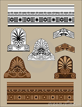 Traditional architectural elements set