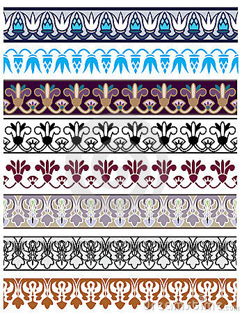 Traditional architectural ornament and stencil set
