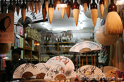 Traditional artworks in an insadong suvniershop Editorial Stock Image