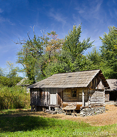 Traditional authentic barn - Gorj Editorial Stock Image