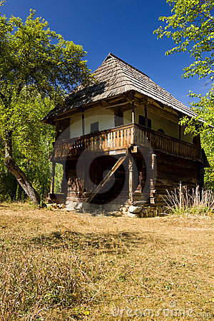 Traditional authentic house – Gorj Editorial Stock Image