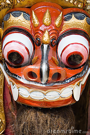 Traditional Balinese lion dance
