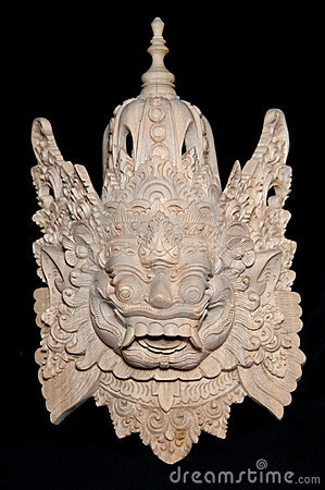 Free Traditional Balinese Mask Royalty Free Stock Photography - 19144677