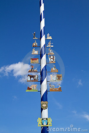 Free Traditional Bavarian Maypole Royalty Free Stock Image - 19936356