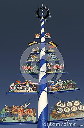 Free Traditional Bavarian Maypole Stock Photos - 37536443