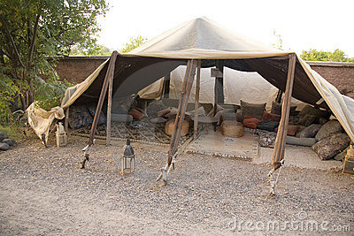 Traditional Berber tent