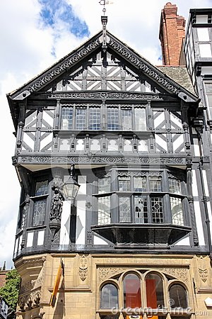 Tudor building in Eastgate Street. Chester. England